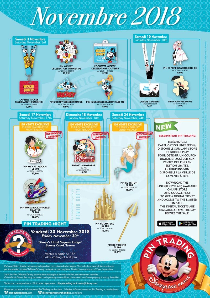 Calendrier Pass Disney.Pin Trading Archive Affiches 2018